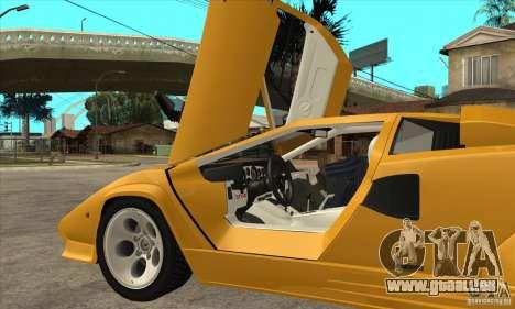 Lamborghini Countach für GTA San Andreas Innenansicht