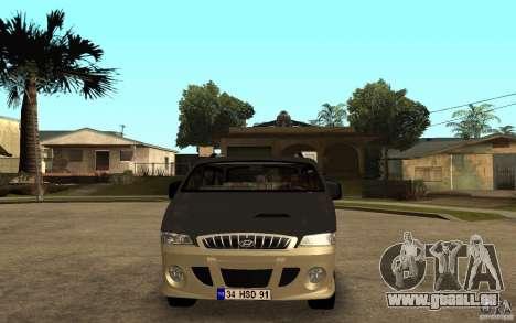 Hyundai Starex pour GTA San Andreas sur la vue arrière gauche
