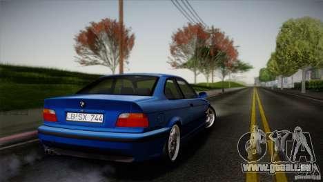BMW M3 E36 pour GTA San Andreas sur la vue arrière gauche