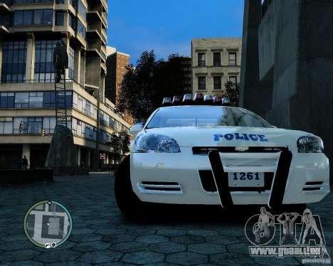 NYPD Chevrolet Impala 2006 [ELS] pour GTA 4 Vue arrière