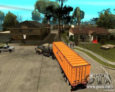 Krone Trailer Hapag-LLoyd pour GTA San Andreas vue de droite