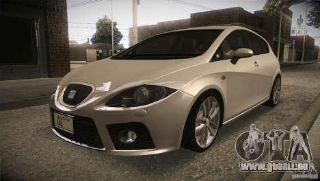 Seat Leon Cupra pour GTA San Andreas vue intérieure