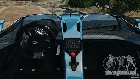 Lamborghini Aventador J 2012 v1.2 pour GTA 4 Vue arrière
