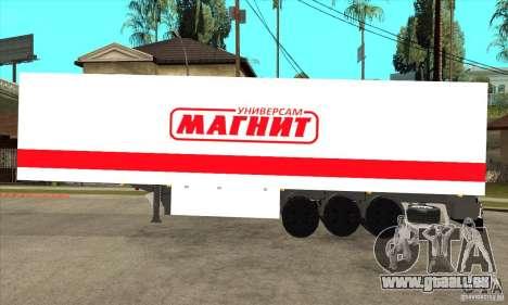 Trailer Magnit für GTA San Andreas linke Ansicht