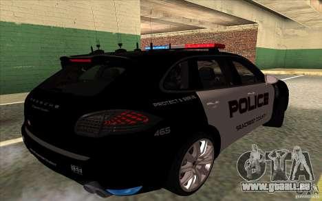Porsche Cayenne Turbo 958 Seacrest Police pour GTA San Andreas vue de droite