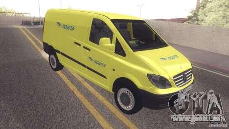 Mercedes Benz Vito Pošta Srbije pour GTA San Andreas laissé vue