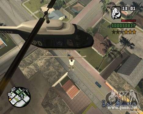 Zaprygivayem hélicoptère pour GTA San Andreas troisième écran