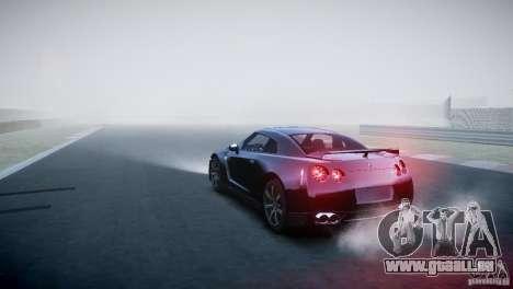 Nissan GT-R R35 V1.2 2010 pour GTA 4 Vue arrière de la gauche