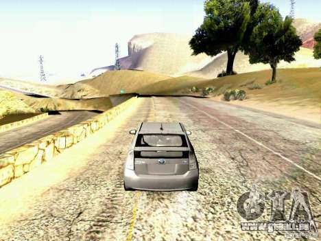 Toyota Prius Hybrid 2011 für GTA San Andreas zurück linke Ansicht