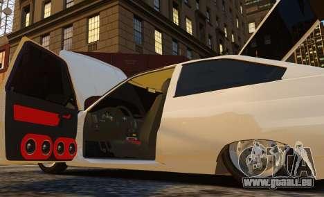 Coupe de VAZ-2112 pour GTA 4 Vue arrière