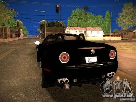 Alfa Romeo 8C Spider 2012 für GTA San Andreas zurück linke Ansicht