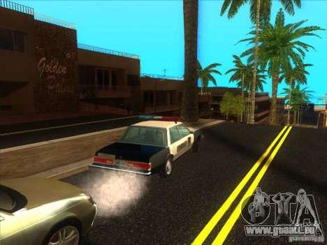 Dodge Diplomat 1985 LAPD Police pour GTA San Andreas vue arrière