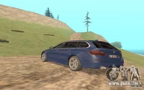 BMW M5 F11 Touring pour GTA San Andreas vue arrière