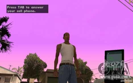 Téléphone de GTA IV pour GTA San Andreas deuxième écran