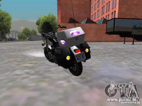 Harley Davidson Dyna Defender pour GTA San Andreas vue de droite