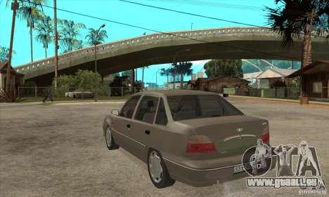 Daewoo Nexia Dohc 2009 pour GTA San Andreas sur la vue arrière gauche