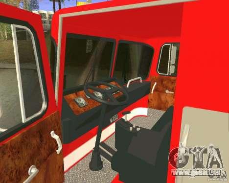 Pumper Firetruck Los Angeles Fire Dept pour GTA San Andreas vue de côté