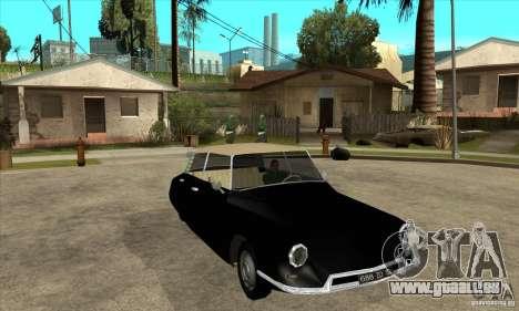 Citroen ID 19 pour GTA San Andreas vue intérieure