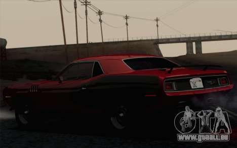 Plymouth Hemi Cuda 426 1971 pour GTA San Andreas vue arrière