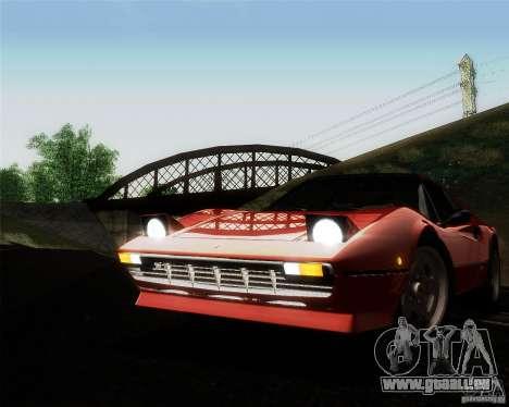 Ferrari 308 GTS Quattrovalvole pour GTA San Andreas vue de dessus