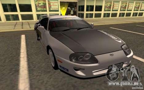 Toyota Supra RZ 1998 pour GTA San Andreas sur la vue arrière gauche