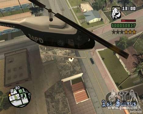 Zaprygivayem hélicoptère pour GTA San Andreas deuxième écran