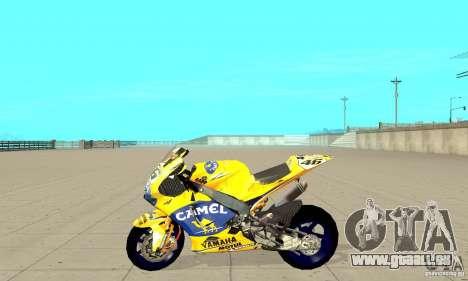 Honda Valentino Rossi Bf400 pour GTA San Andreas laissé vue