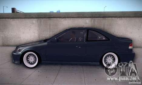 Honda Civic 6Gen pour GTA San Andreas laissé vue