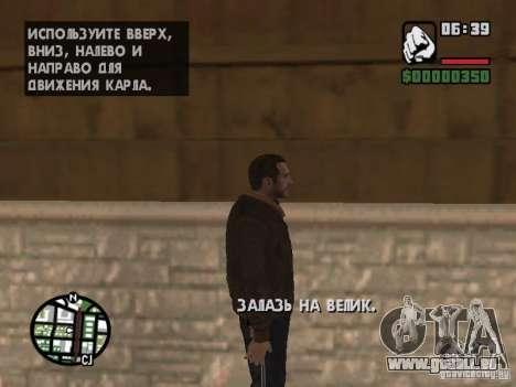 Niko Bellic für GTA San Andreas dritten Screenshot