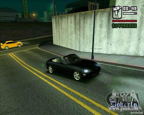 Mazda Miata Tunable pour GTA San Andreas laissé vue