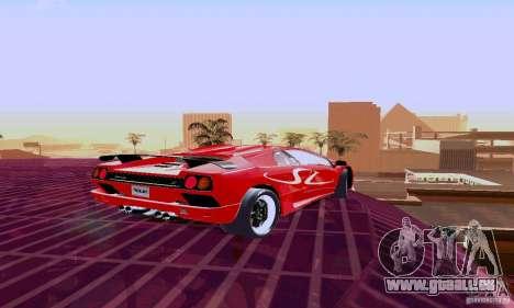Lamborghini Diablo SV 1997 pour GTA San Andreas vue arrière