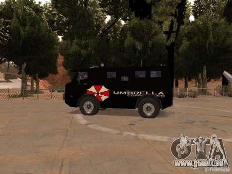 AM 7.0 Umbrella Corporation pour GTA San Andreas sur la vue arrière gauche