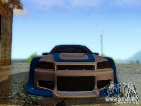 Nissan Skyline GTR34 DTM pour GTA San Andreas vue arrière