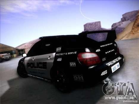 Subaru Impreza WRX STI Police Speed Enforcement für GTA San Andreas linke Ansicht