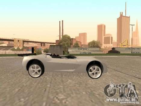 Chevrolet Corvette C7 Spyder für GTA San Andreas Innenansicht