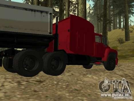 ZIL 130 tracteur pour GTA San Andreas sur la vue arrière gauche