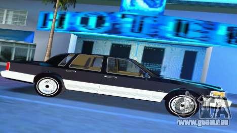 Lincoln Town Car 1997 pour une vue GTA Vice City de la gauche