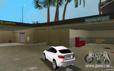 BMW X6M 2010 pour GTA Vice City sur la vue arrière gauche