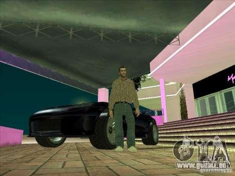 Banshee de gta 4 pour GTA San Andreas vue intérieure