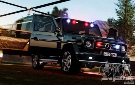 Mercedes-Benz G55 AMG pour GTA 4 Vue arrière de la gauche