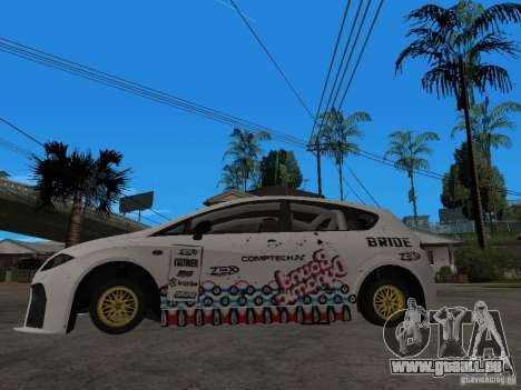 Seat Leon Cupra Bound Dynamic pour GTA San Andreas laissé vue
