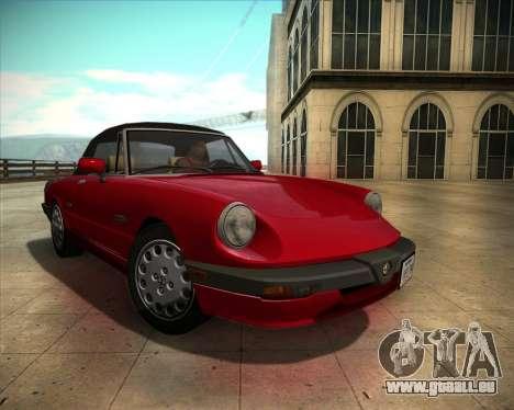 Alfa Romeo Spider 115 1986 für GTA San Andreas Rückansicht
