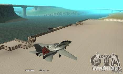 F14W Super Weirdest Tomcat Skin 2 pour GTA San Andreas sur la vue arrière gauche