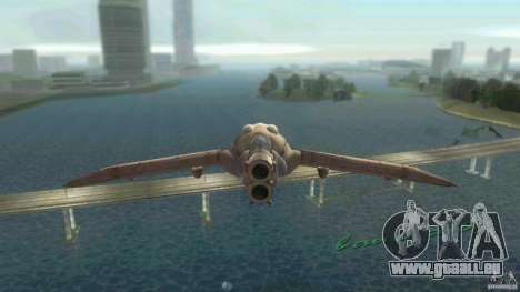 The Valley Gunship pour une vue GTA Vice City de la gauche