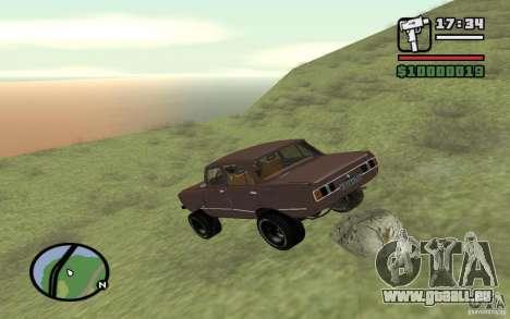 AZLK-2140 4x4 pour GTA San Andreas vue de dessus