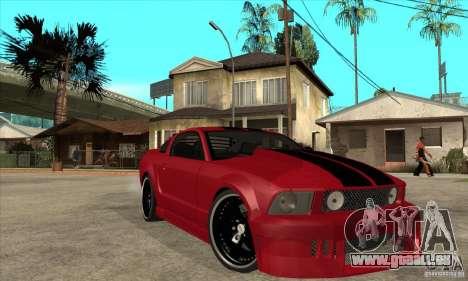 Ford Mustang pour GTA San Andreas vue arrière