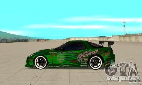 Mazda RX-7 ings pour GTA San Andreas laissé vue