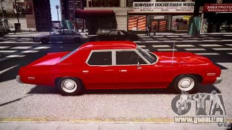 Dodge Monaco 1974 stok rims pour GTA 4 est une vue de l'intérieur