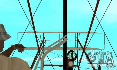 The Wright Flyer für GTA San Andreas Rückansicht