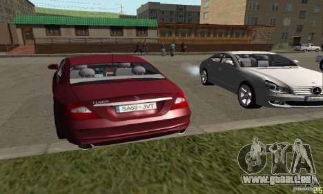 Mercedes-Benz CLS500 v2 pour GTA San Andreas laissé vue
